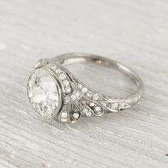 2.33 Carat Vintage Diamond Engagement Ring | New York Vintage & Antique Estate Jewelry – Erstwhile Jewelry Co NY