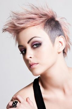 Two tone + shaved sides