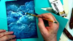 How to Paint Clouds tutorial, free  step by step cloud tutorial by : Gin...