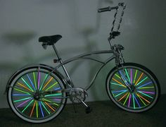 Glow Stick Bracelets taped to your spokes for the glow ride! https://glowproducts.com/us/glow-bracelets