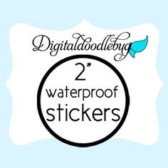 100 custom stickers 2inch circle round product stickers - laser printed WATERPROOF on Etsy, $20.00