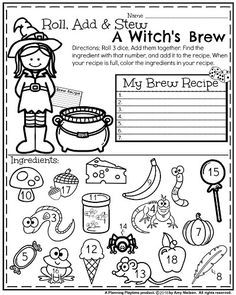 Solving Systems Of Equations By Elimination Worksheet October First Grade Worksheets  Math Worksheets Worksheets And Math Kindergarten English Worksheet Excel with Singular And Plural Noun Worksheet First Grade Math Worksheet For Halloween  Roll Add And Stew A Witchs  Brew 2nd Grade Reading Worksheets Free