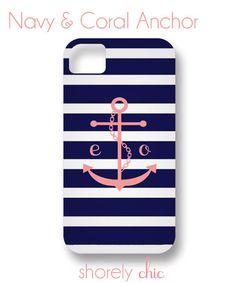 monogram | anchor | iphone case