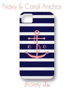 Monogrammed Anchor iPhone Cover by ShorelyChic on Etsy, $44.00