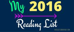 What to read in 2016 ... my Reading List!!