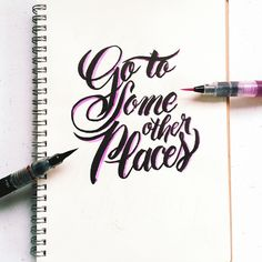 I just want to go somewhere else #calligrafikas #grafikas #dreweuropeo #brushpen #watercolorbrush #brushlettering #moderncalligraphy #lettering #handlettering #handmade #script #handwriting #typeveryday #thedailytype #typedaily #type #goodtype #handstrokes #handrawn #random #words #phrases #practice