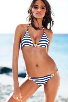Walk the line in this push-up bikini. / Victoria's Secret Swim 2014