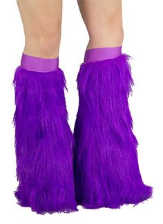 Bright Purple Faux Fur Boot Sleeves