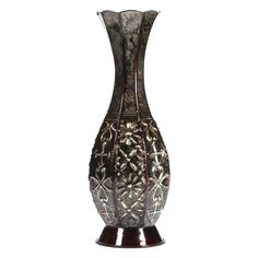 """Hosley's Metal Tall Floor Vase - 14"""" High. Ideal for Dried Floral Arrangements at Home, for Weddings, Spa and Aromatherapy Settings, or as a Gift. PRODUCT: Hosley's Metal Tall Floor Vase. USES: Metal vase are just the right gift for a wedding and can be used for a party, reiki, spa. The vase can complement a variety of decors that other vases are limited in. BENEFITS: The metal vase can acent your home or office for the right decor with or without dry floral or greenery additions...."""