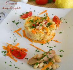 Couscous estivo con fagioli, tonno e verdure fresche. Facile e gustoso