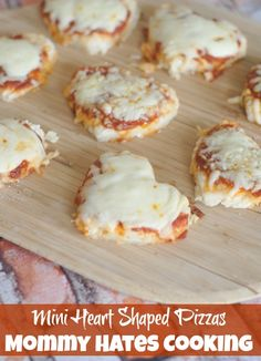 Mini Heart Shaped Pizzas