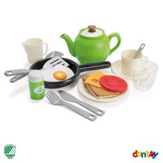 AndreuToys - Green Garden Breafkast Set - In Net