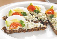 POMAZÁNKA Z AVOKÁDA | Recepty Meatloaf, Cobb Salad, Pesto, Food And Drink, Eggs, Beef, Healthy Recipes, Cooking, Breakfast