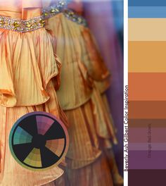 Color Inspiration - Orange Ball Gowns