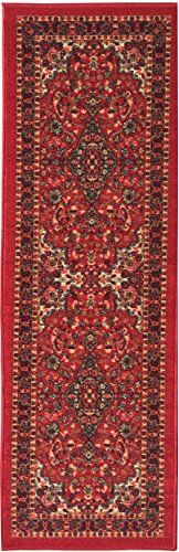 "NEW Ottohome Collection Persian Heriz Oriental Design Red Runner Rug (1'10""x7'0"") with Non-skid (Non-slip) Rubber Backing Ottomanson http://www.amazon.com/dp/B00XQDCORU/ref=cm_sw_r_pi_dp_mI3Cvb01BQEW2"