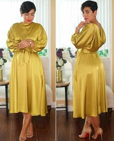 Prim and Proper Latest African Fashion Dresses, African Dresses For Women, African Attire, I Dress, Dress Outfits, Casual Dresses, Frock Fashion, Women's Fashion Dresses, Classy Dress