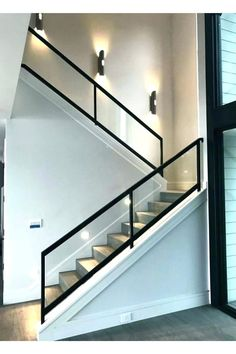 15 Amazing Modern Staircases design Plan thats you Love 162 Stairs Design Modern Amazing design DIY Love Modern modernliving Plan Staircases Home Design, Home Stairs Design, Railing Design, Modern Design, Stair Photo Walls, Layout Design, Design Ideas, Cheap Tiny House, Stair Lighting