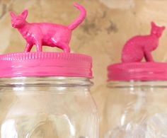 diy catastic canisters ~ I'm going to use Christmas Figures on mine :)