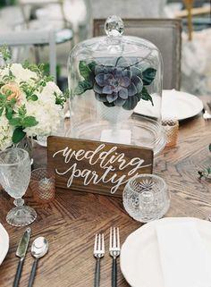 """Wedding Party"" Wood Sign    Photography: Tec Petaja   Read More:  http://www.insideweddings.com/weddings/childhood-friends-celebrate-wedding-at-marriott-familys-lake-house/866/"