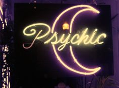 Crescent Moon Psychic Neon Light Up Sign | Storefront | Fortune Teller | Divination | Mystic Shop | Magick