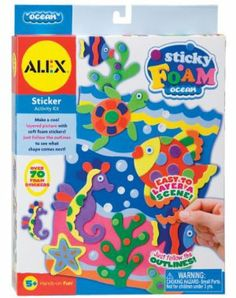 Alex Toys Sticky Foam Ocean by ALEX TOYS. $6.51. 8.75 x 1.25 x 11.75. Layer adhesive foam pieces to create a colorful 3D scene. Each kit includes lots of foam stickers,printed board with fold-out stand and easy instructions.