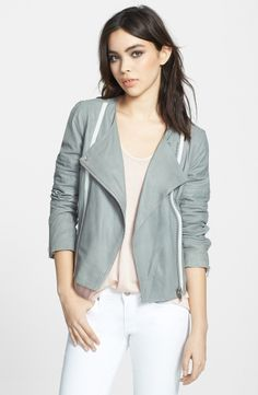 Spring 2014 Color Report: Paloma | Destin Washed Leather Jacket by BB Dakota, $328, available at Nordstrom | Photo Courtesy of Nordstrom #thinknorthfashion