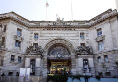 Waterloo Station.  I love train stations!