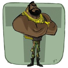 Playin' a little catch-up with @Sketch_Dailies and #MrT.  I pity the fool who falls behind!!