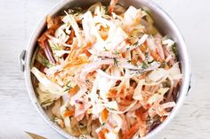 This colourful coleslaw is the must have salad at a family barbecue.