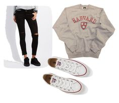 """""""Untitled #49"""" by jolee-micah ❤ liked on Polyvore featuring Machine and Converse"""