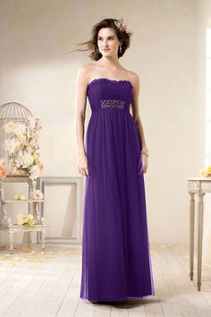 Made of a lovely net fabric, this floor-length bridesmaid dress includes a sweetheart neckline and a waistband embellished with sparkling rhinestones. This strapless, net dress from Alfred Angelo Bridesmaid 8616L will make your bridal party look amazing for your big day. http://www.trendycollection.com/alfred-angelo-bridesmaid-item-12628&category_id=0&event=Bridesmaid&click=event