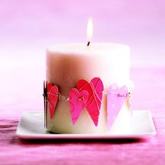 Decorated Heart Candle