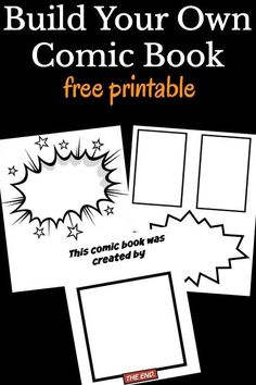 comic books A free printable comic book template for kids to create their very own comics. Just print, create, and bind for your very own book. Comic Book Crafts, Dc Comic Books, Comic Book Characters, Comic Book Writing, Make A Comic Book, School Age Activities, Writing Activities, Super Hero Activities, Templates Printable Free