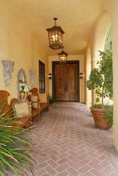 Mediterranean Entry and Hall in Los Angeles, CA by Timothy Corrigan, Inc.