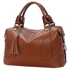 Heshe Leather Shoulder Bag Womens Tote Top Handle Handbags Cross Body Bags for Office Lady ** Want to know more, click on the image. (This is an affiliate link) Hobo Purses, Hobo Handbags, Shoulder Handbags, Purses And Handbags, Leather Handbags, Fashion Handbags, Office Ladies, Leather Slip Ons, Hobo Bag
