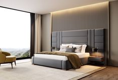 Contemporary bedroom interior design that very cozy 04 Room Design Bedroom, Luxury Bedroom Design, Bedroom Furniture Design, Bed Headboard Design, Bed With Headboard, Modern Luxury Bedroom, Bedroom Decor, Bed Cushion Design, Bedroom Ideas