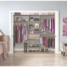 College closet organizers dorm room closet organization and decorating bedside tusk college best college closet organizers College Dorm Closet, College Closet Organization, Dorm Room Closet, Organization Ideas, Basement Closet, Dorm Rooms, Small Room Design, Closet System, Closet Designs