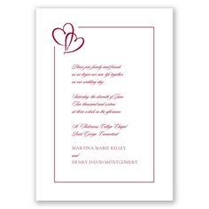 Bordered Hearts - Apple - Invitation David's Bridal