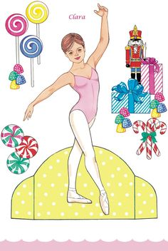 paper dolls; Clara from the Nutcracker. Dover Publications.