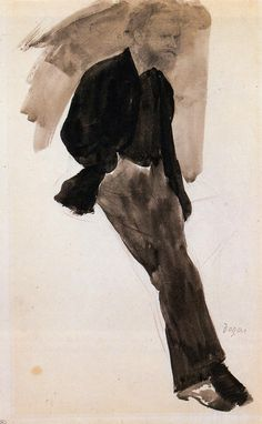 Edouard Manet Standing - Edgar Degas ok not a self portrait but an in-class portrait close enough Edgar Degas, Art Ancien, Foto Art, Art Graphique, Art For Art Sake, Gustav Klimt, Renoir, Art Plastique, Painting & Drawing