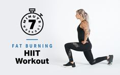 A high-intensity interval training workout that takes seven minutes. A high-intensity interval training workout that takes seven minutes. Cardio Yoga, Workout Hiit, Interval Training Workouts, 7 Minute Workout, Plyometric Workout, Endurance Workout, Aerobics Workout, High Intensity Interval Training, Workout Fitness