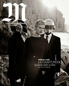 M Le Magazine du Monde - 07 de Diciembre 2013: Saskia de Brawn & Daft Punk by Peter Lindbergh.
