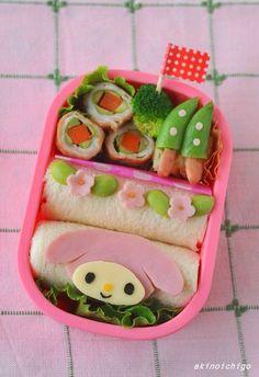 My melody roll sandwich bento