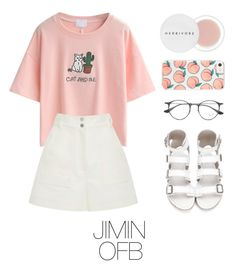 """Jimin bts outfit"" by mazera-kor ❤ liked on Polyvore featuring Herbivore, WithChic, Ray-Ban and TIBI"