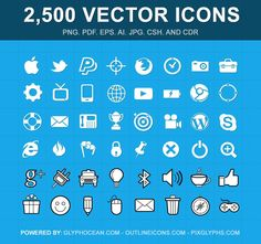 Bundle of Bundles! 2,500 Vector Icons - only $37! - MightyDeals