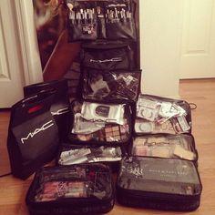 MAC Cosmetics Zuca Bag,freelance makeup kit..have makeup,will travel!