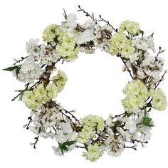 Faux Blossom Wreath