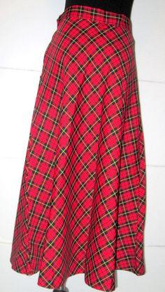 456bd5d76 Vintage Tartan Plaid Skirt. Red Black and by MISSVINTAGE5000 Yellow Plaid  Skirt, Plaid Skirts