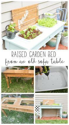 An Old Sofa Table Can Be Reused As A DIY Raised Garden Bed! This Is