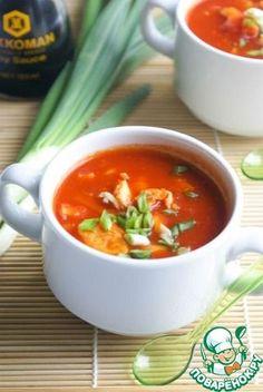 Быстрый китайский томатный суп с яйцом ингредиенты